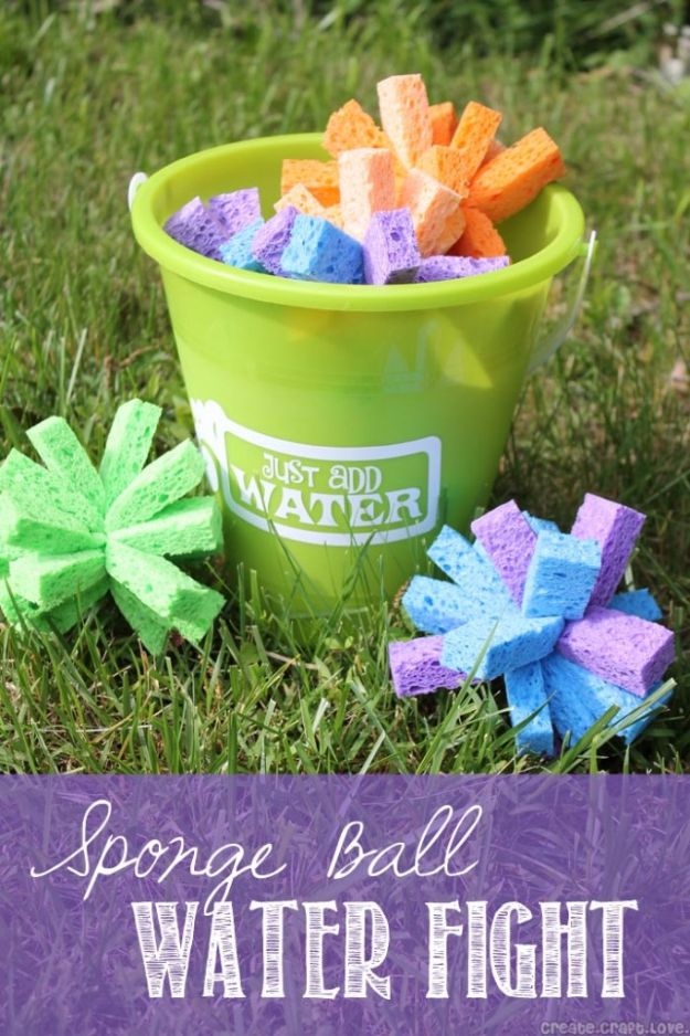 DIY Pool Party Ideas - Sponge Ball Water Fight - Easy Decor Ideas for Pools - Best Pool Floats, Coolers, Party Foods and Drinks - Entertaining on A Budget - Step by Step Tutorials and Instructions - Summer Games and Fun Backyard Parties http://diyjoy.com/diy-pool-party-ideas