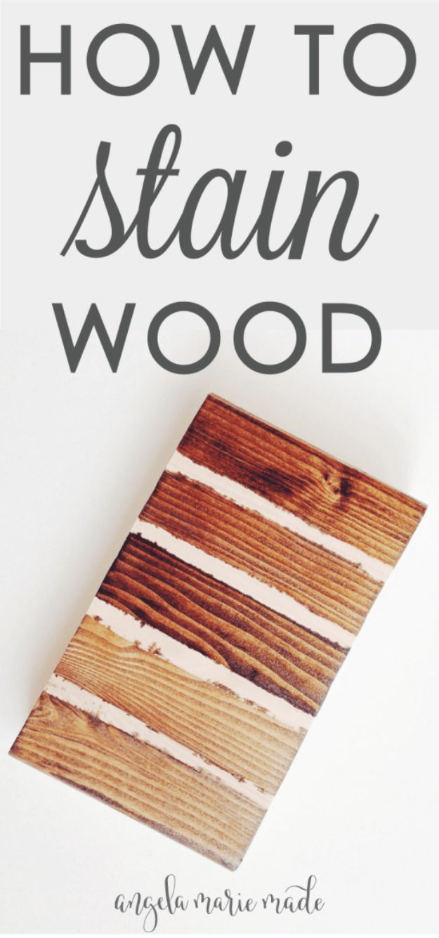 Cool Woodworking Tips - Staining Wood - Easy Woodworking Ideas, Woodworking Tips and Tricks, Woodworking Tips For Beginners, Basic Guide For Woodworking - Refinishing Wood, Sanding and Staining, Cleaning Wood and Upcycling Pallets - Tips for Wooden Craft Projects http://diyjoy.com/diy-woodworking-ideas