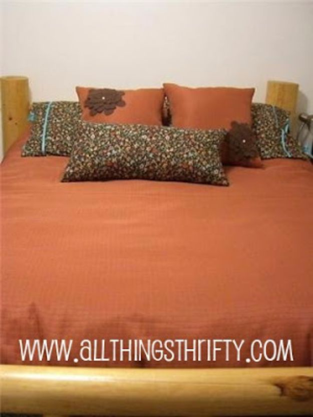 DIY Duvet Covers - Super Easy Duvet Cover - Easy Sewing Projects and No Sew Ideas for Duvets - Cheap Bedroom Decor Ideas on A Budget - How To Sew A Duvet Cover and Bedding Tutorial - Creative Covers for Bed - Quick Projects for Making Designer Duvets - Awesome Home Decor Ideas and Crafts #duvet #diybedroom #roomdecor #sewingideas