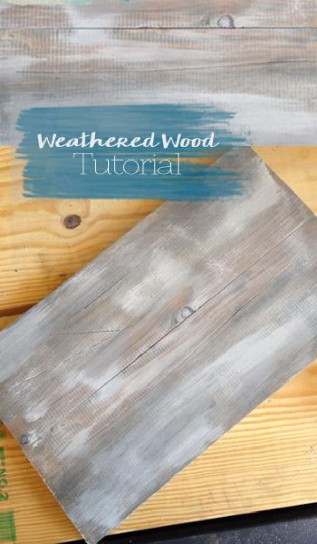 Cool Woodworking Tips - Super Easy Weathered Wood Look - Easy Woodworking Ideas, Woodworking Tips and Tricks, Woodworking Tips For Beginners, Basic Guide For Woodworking - Refinishing Wood, Sanding and Staining, Cleaning Wood and Upcycling Pallets #woodworking