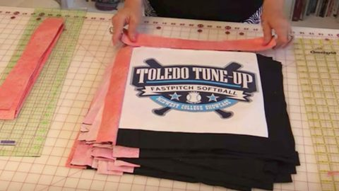 She Takes Her Old T-Shirts And What She Makes Is An Item Full Of Great Memories! | DIY Joy Projects and Crafts Ideas