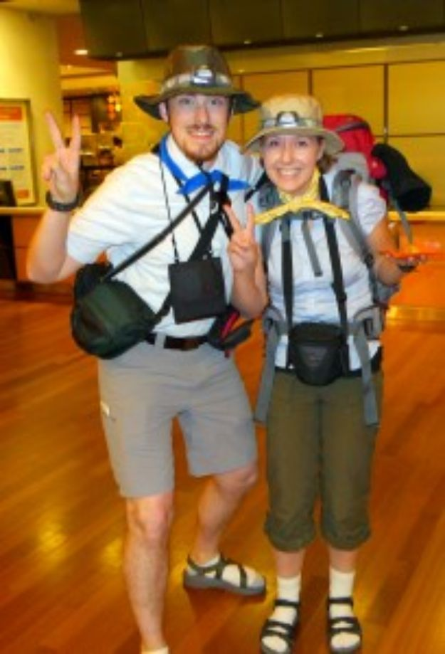 DIY Halloween Costumes for Couples - The Tourists - Funny, Creative and Scary Ideas for Parties, College Party - Unique and Cute Project Idea for Disney Characters, Superhero, Movie Themes, Bonnie and Clyde, Homemade Costume Projects for Boyfriends - Quick Last Minutes Halloween Costume Ideas from Pinterest #halloween #halloweencostumes
