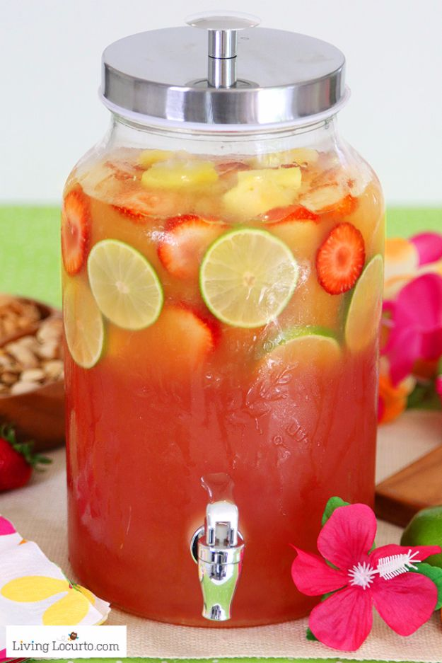 DIY Pool Party Ideas - Tropical Rum Punch - Easy Decor Ideas for Pools - Best Pool Floats, Coolers, Party Foods and Drinks - Entertaining on A Budget - Step by Step Tutorials and Instructions - Summer Games and Fun Backyard Parties