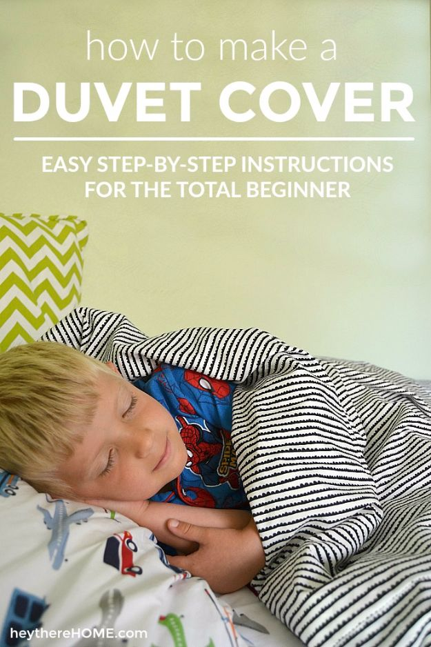 DIY Duvet Covers - Twin Duvet Cover - Easy Sewing Projects and No Sew Ideas for Duvets - Cheap Bedroom Decor Ideas on A Budget - How To Sew A Duvet Cover and Bedding Tutorial - Creative Covers for Bed - Quick Projects for Making Designer Duvets - Awesome Home Decor Ideas and Crafts #duvet #diybedroom #roomdecor #sewingideas