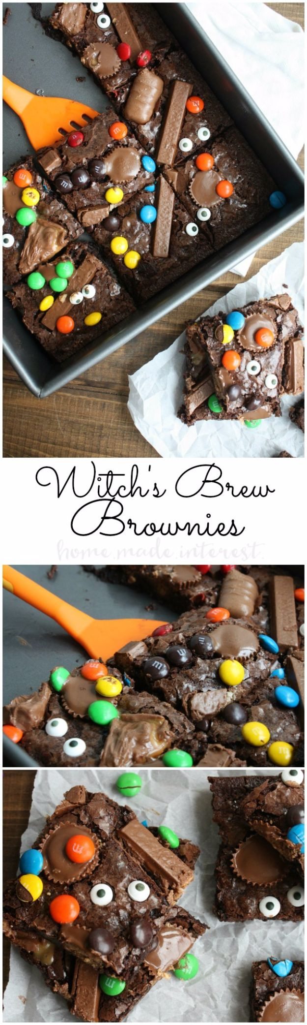 Best Halloween Party Snacks - Witch's Brew Brownies - Healthy Ideas for Kids for School, Teens and Adults - Easy and Quick Recipes and Idea for Dips, Chips, Spooky Cookies and Treats - Appetizers and Finger Foods Made With Vegetables, No Candy, Cheap Food, Scary DIY Party Foods With Step by Step Tutorials http://diyjoy.com/halloween-party-snacks