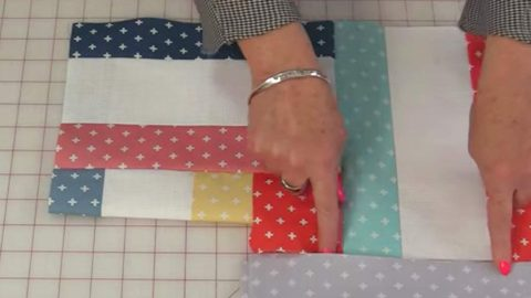 She Cuts Different Size Strips, Sews All Straight Seams And Makes A Quilt You'll Love | DIY Joy Projects and Crafts Ideas