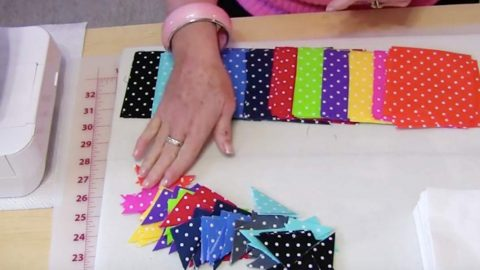 She Irons 2″ Blocks Into Triangles And You Will Love What She Does With Them! | DIY Joy Projects and Crafts Ideas
