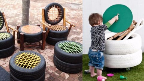 32 DIY Ideas Made With Old Tires | DIY Joy Projects and Crafts Ideas