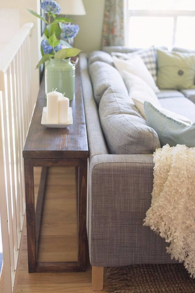 DIY Media Consoles and TV Stands - $30 DIY Console Table - Make a Do It Yourself Entertainment Center With These Easy Step By Step Tutorials - Easy Farmhouse Decor Media Stand for Television - Free Plans and Instructions for Building and Painting Your Own DIY Furniture - IKEA Hacks for TV Stand Idea - Quick and Easy Ways to Decorate Your Home On A Budget http://diyjoy.com/diy-tv-media-consoles