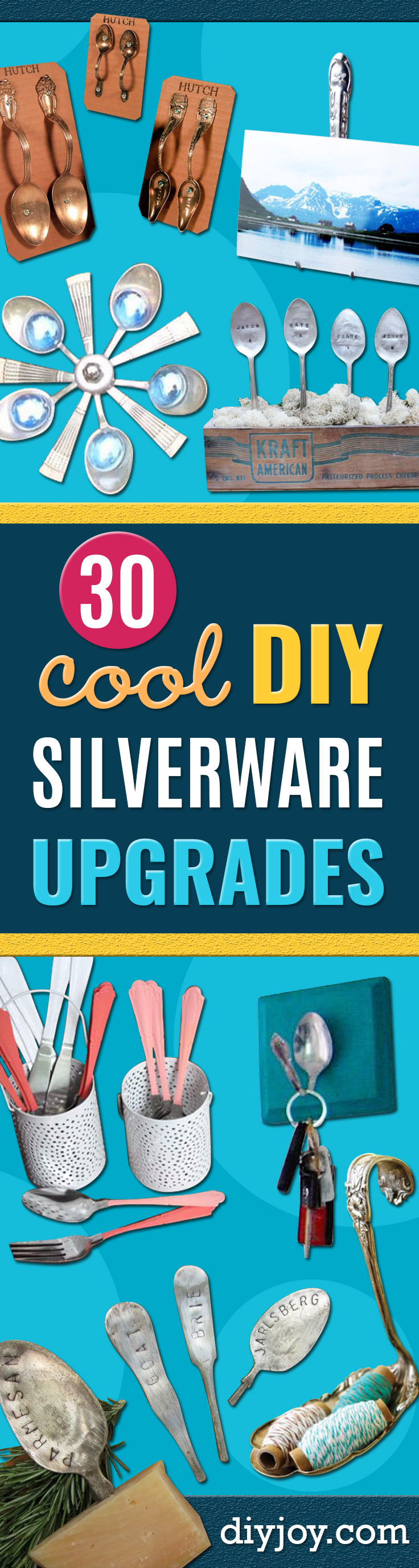DIY Silverware Upgrades - Creative Crafts and Ways To Improve Boring Silver Ware and Place Settings - Paint, Decorate and Update Your Flatware With These Creative Do IT Yourself Tutorials- Forks, Knives and Spoons all Get Dressed Up With These New Looks For Kitchen and Dining Room