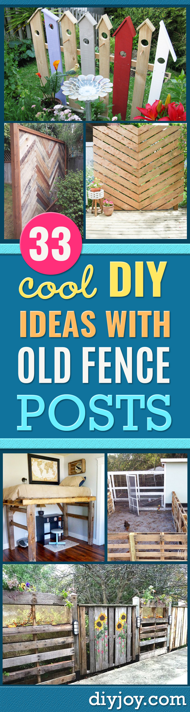 DIY Ideas With Old Fence Posts - Rustic Farmhouse Decor Tutorials and Projects Made With An Old Fence Post - Easy Vintage Shelving, Wall Art, Picture Frames and Home Decor for Kitchen, Living Room and Bathroom - Creative Country Crafts, Seating, Furniture, Patio Decor and Rustic Wall Art and Accessories to Make and Sell