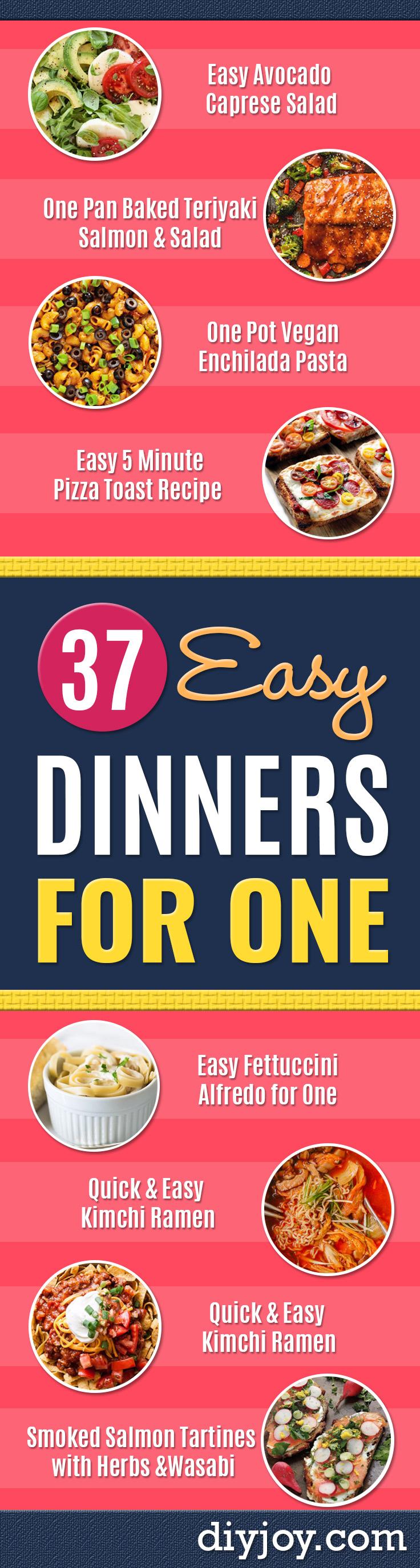 Easy Dinner Ideas For One