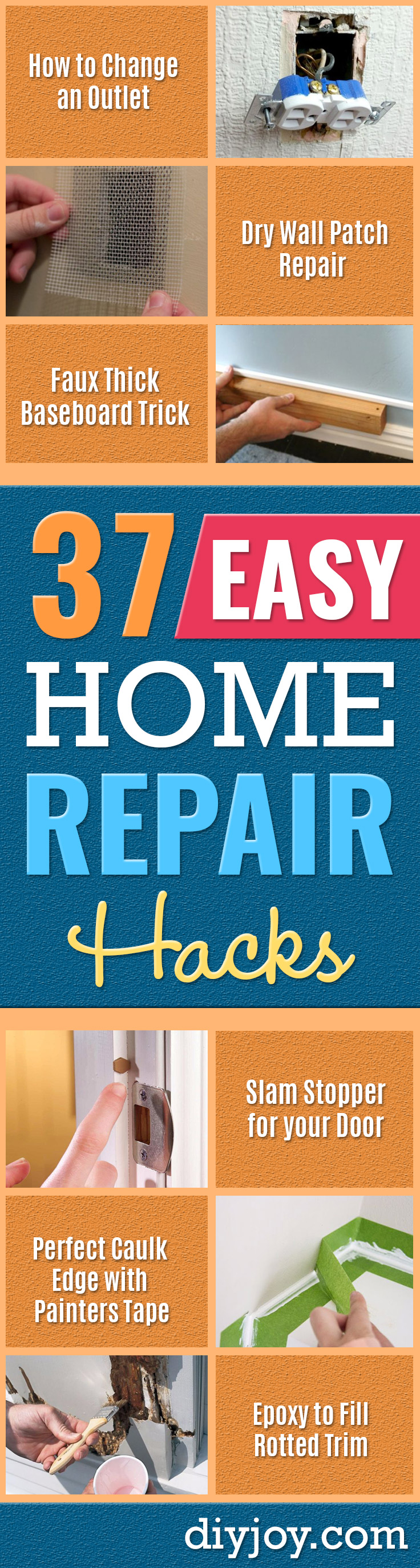 easy home repair projects diy home improvement ideas - Quick Ways To Fix Your Home With Cheap and Fast DIY Projects - Step by step Tutorials, Good Ideas for Renovating, Simple Tips and Tricks for Home Improvement on A Budget - Small Bathrooms, Kitchen, Bathroom, House