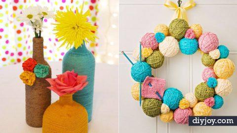 39 Creative DIY Ideas Made With Yarn | DIY Joy Projects and Crafts Ideas