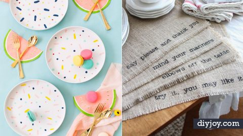 42 Cool Napkins and Placemats To Make Today | DIY Joy Projects and Crafts Ideas