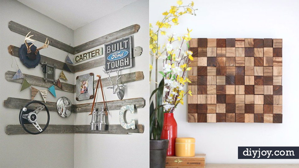 42 impressively easy rustic wall art ideas - Wall decor painting ideas ...