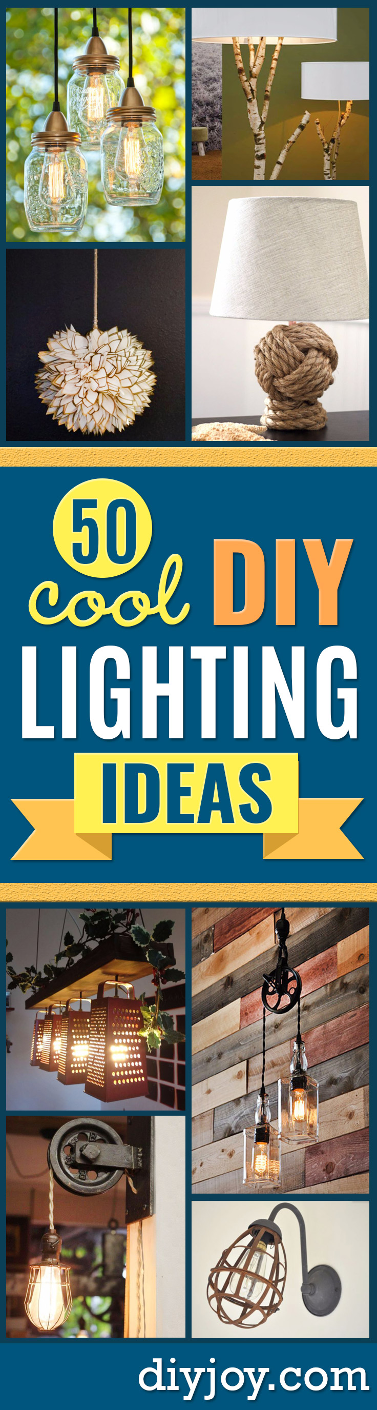 DIY Lighting Ideas and Cool DIY Light Projects for the Home - Easy DIY Ideas for Chandeliers, lights, lamps, awesome pendants and creative hanging fixtures, complete with tutorials with instructions. Cheap do it yourself lighting tutorials for indoor - bedroom, living room, bathroom, kitchen DIY Projects and Crafts for Women and Men