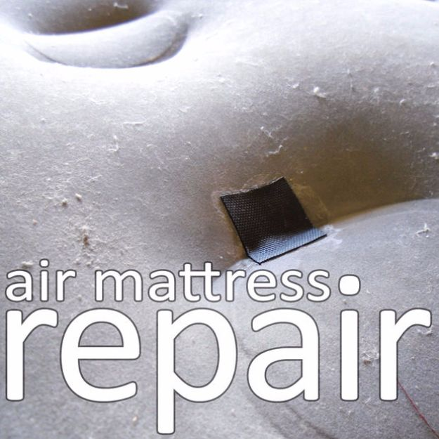 Easy Home Repair Hacks - Air Mattress Repair - Quick Ways to Easily Fix Broken Things Around The House - DIY Tricks for Home Improvement and Repairs - Simple Solutions for Kitchen, Bath, Garage and Yard - Caulk, Grout, Wall Repair and Wood Patching and Staining #hacks #homeimprovement