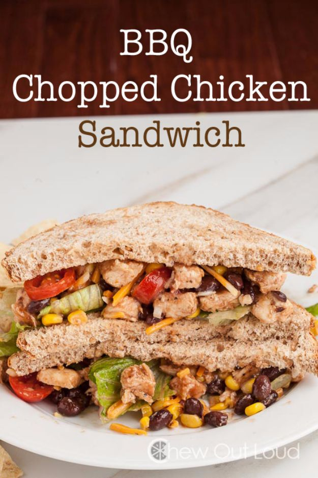 Back to School Lunch Ideas - BBQ Chopped Chicken Sandwich - Quick Snacks, Lunches and Homemade Lunchables - Bento Box Style Lunch for People in A Hurry - Fast Lunch Recipes to Pack Ahead - Healthy Ideas for Kids, Teens and Adults http://diyjoy.com/back-to-school-lunches