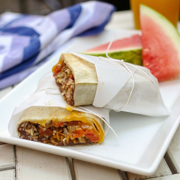 Back to School Lunch Ideas - Beef Mushroom Burrito - Quick Snacks, Lunches and Homemade Lunchables - Bento Box Style Lunch for People in A Hurry - Fast Lunch Recipes to Pack Ahead - Healthy Ideas for Kids, Teens and Adults