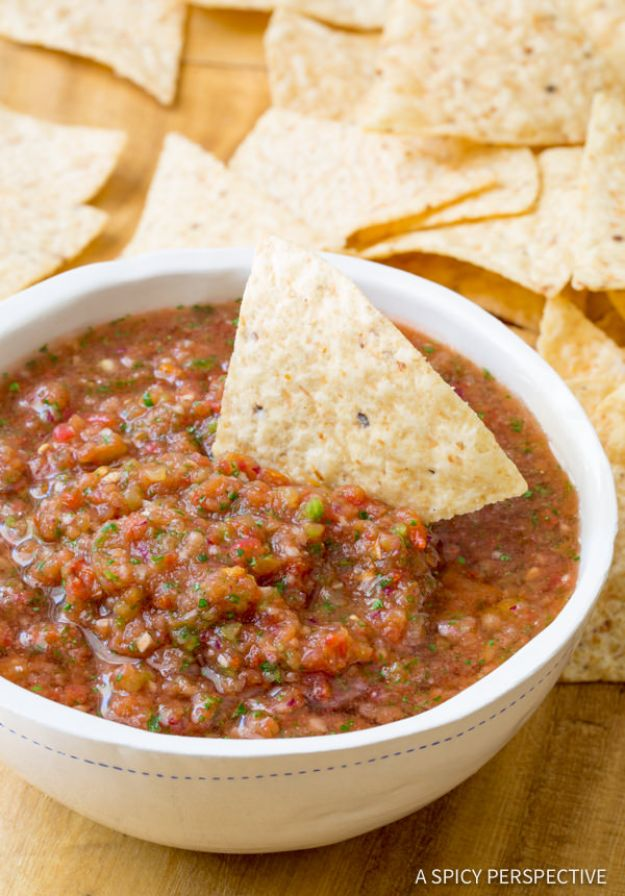 Best Dip Recipes - Best Homemade Salsa - Easy Recipe Ideas for A Party Appetizer - Cold Recipe Ideas for Chips, Crockpot, Mexican Bean Dip, Desserts and Healthy Fruit Options - Italian Dressing and Ranch Dip Recipe Ideas http://diyjoy.com/best-dip-recipes