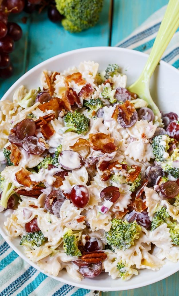 Back to School Lunch Ideas - Broccoli, Grape, and Pasta Salad - Quick Snacks, Lunches and Homemade Lunchables - Bento Box Style Lunch for People in A Hurry - Fast Lunch Recipes to Pack Ahead - Healthy Ideas for Kids, Teens and Adults