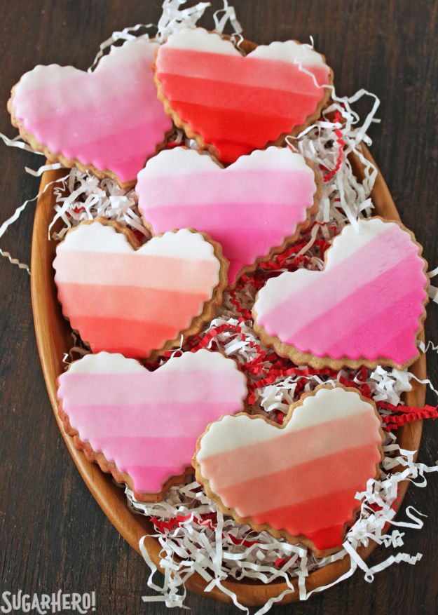 Cool Cookie Decorating Ideas - Brown Butter Heart Cookies - Easy Ways To Decorate Cute, Adorable Cookies - Quick Recipes and Simple Decorating Tips With Icing, Candy, Chocolate, Buttercream Frosting and Fruit - Best Party Trays and Cookie Arrangements http://diyjoy.com/cookie-decorating-ideas
