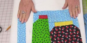 She Cuts Jar Shapes Out Of Fabrics With Bugs On It For A Fun And Easy Quilt. Watch!