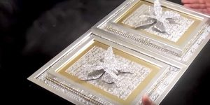 She Puts Bling On A Frame, Adds A Frame On Top…The Butterfly Tops It Off!