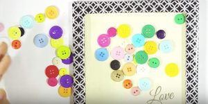 She Makes A Cardboard Frame, Covers It And You'll Love What She Does With Buttons. Watch!