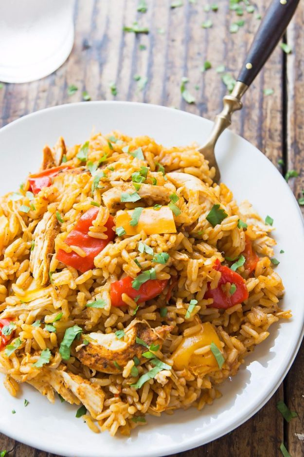 Easy Dinner Ideas for One - Cajun Chicken and Rice - Quick, Fast and Simple Recipes to Make for a Single Person - Freeze and Make Ahead Dinner Recipe Tips for Best Weeknight Dinners for Singles - Chicken, Fish, Vegetable, No Bake and Vegetarian Options - Crockpot, Microwave, Healthy, Lowfat Options