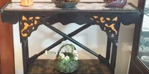 Forget Ethan Allen…She Uses Cardboard, Glue, PVC, And Paint To Make This Cool Table!