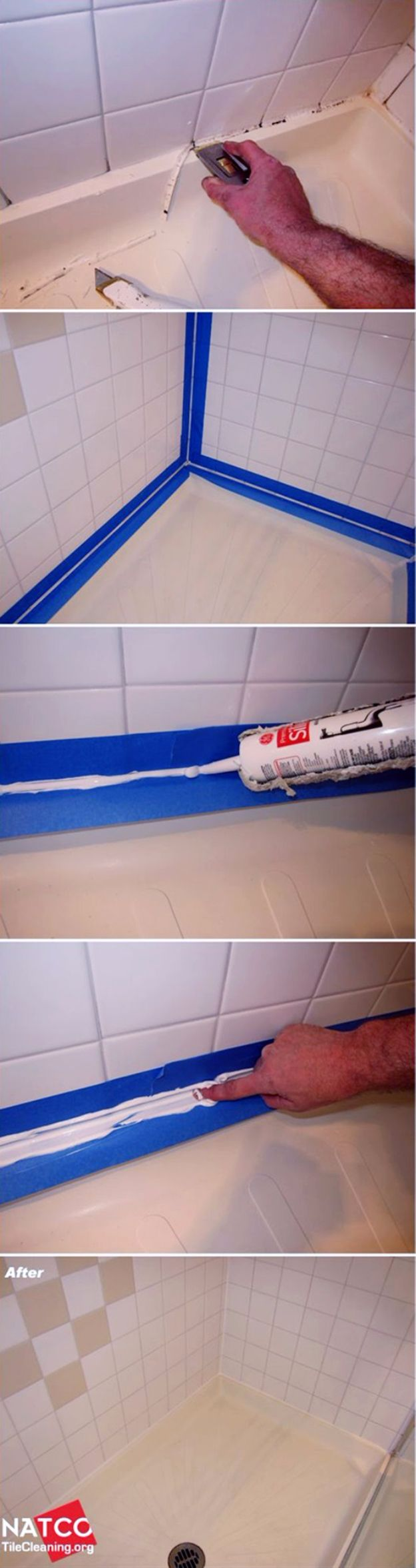 Easy Home Repair Hacks - Caulk Like A Pro - Quick Ways to Easily Fix Broken Things Around The House - DIY Tricks for Home Improvement and Repairs - Simple Solutions for Kitchen, Bath, Garage and Yard - Caulk, Grout, Wall Repair and Wood Patching and Staining http://diyjoy.com/easy-home-repair-hacks