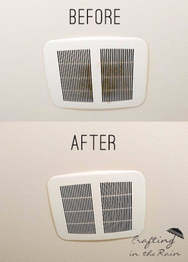 Cleaning Tips and Tricks - Clean Bathroom Vent Fans - Best Cleaning Hacks, Recipes and Tutorials - Daily Ways to Clean For Kitchen, For Couches, Bathroom, Bedroom, Laundry, Floors, Furniture, Windows, Cleaners and More for Cleaning Your Home- Quick Ideas for Lazy People - Cool Cleaning Hack Tutorial - DIY Projects and Crafts by DIY JOY http://diyjoy.com/diy-cleaning-tips-tricks