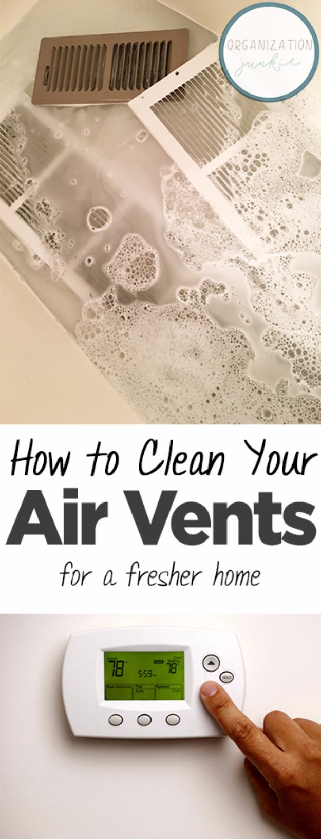 Cleaning Tips and Tricks - Clean Your Air Vents for a Fresher Home - Best Cleaning Hacks, Recipes and Tutorials - Daily Ways to Clean For Kitchen, For Couches, Bathroom, Bedroom, Laundry, Floors, Furniture, Windows, Cleaners and More for Cleaning Your Home- Quick Ideas for Lazy People - Cool Cleaning Hack Tutorial - DIY Projects and Crafts by DIY JOY http://diyjoy.com/diy-cleaning-tips-tricks