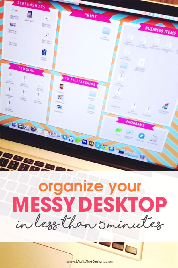 DIY Ideas for Your Computer - Clean up your Computer Desktop - Cool Desk, Home Office, Bulletin Boards and Tech Projects for Kids, Awesome Tips and Tricks for Your Laptop and Desktop, Best Shortcuts and Neat Ways To Make Your Computer Even Better With Productivity Tips http://diyjoy.com/diy-ideas-computer