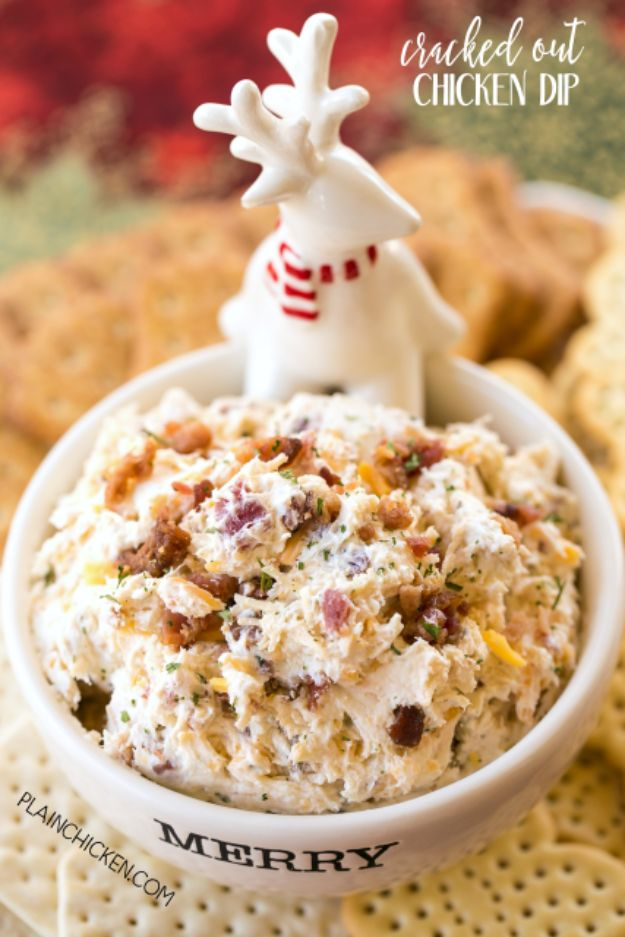 Best Dip Recipes - Cracked Out Chicken Dip - Easy Recipe Ideas for A Party Appetizer - Cold Recipe Ideas for Chips, Crockpot, Mexican Bean Dip, Desserts and Healthy Fruit Options - Italian Dressing and Ranch Dip Recipe Ideas http://diyjoy.com/best-dip-recipes