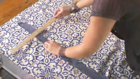 She Measures And Cuts Fabric, Attaches Ribbon And Saves Money On An Item We All Need! | DIY Joy Projects and Crafts Ideas