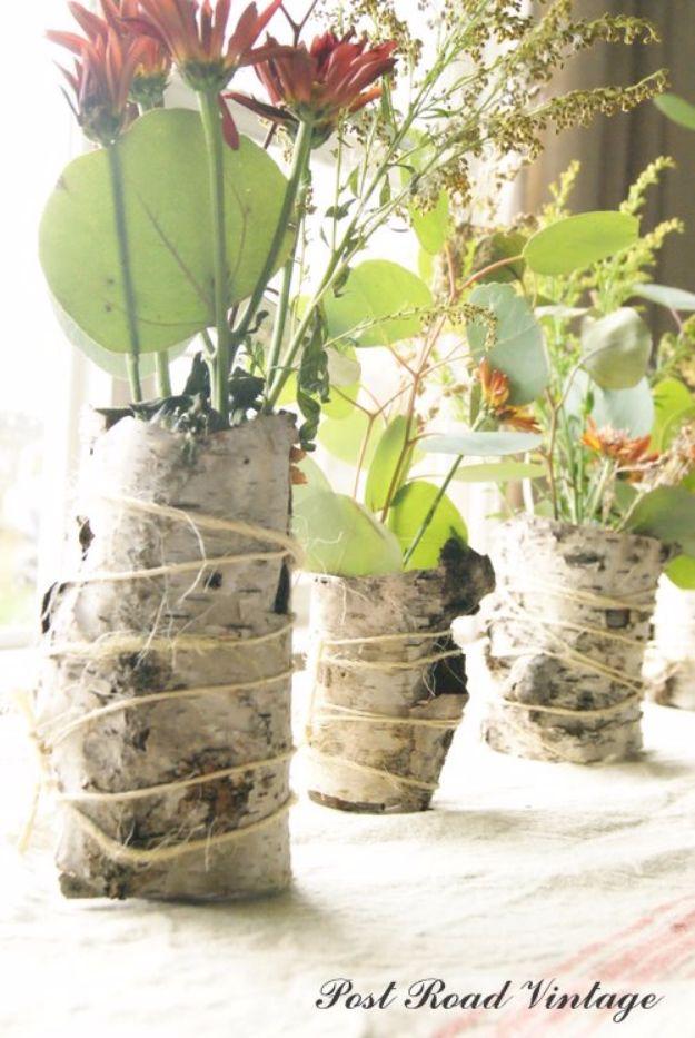 Diy Birch Bark Vase Diy Joy