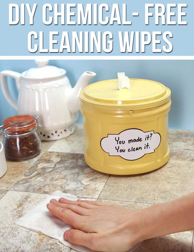 Cleaning Tips and Tricks - DIY Chemical Free Cleaning Wipes - Best Cleaning Hacks, Recipes and Tutorials - Daily Ways to Clean For Kitchen, For Couches, Bathroom, Bedroom, Laundry, Floors, Furniture, Windows, Cleaners and More for Cleaning Your Home- Quick Ideas for Lazy People - Cool Cleaning Hack Tutorial - DIY Projects and Crafts by DIY JOY http://diyjoy.com/diy-cleaning-tips-tricks