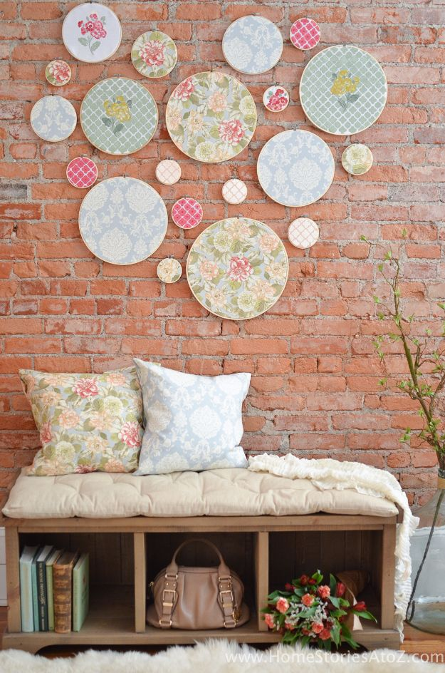 Rustic Wall Art Ideas - DIY Embroidery Hoop Wall Art - DIY Farmhouse Wall Art and Vintage Decor for Walls - Country Crafts and Rustic Home Decor Made Easy With Instructions and Tutorials - String Art, Repurposed Pallet Projects, Mason Jar Crafts, Vintage Signs, Word Art and Letters, Monograms and Sewing Projects http://diyjoy.com/rustic-wall-art-ideas