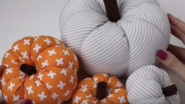 Best Crafts for Fall Decorating - DIY Fabric Pumpkins - DIY Home Decor, Mason Jar Ideas, Dollar Store Crafts, Rustic Pumpkin Ideas, Wreaths, Candles and Wall Art, Centerpieces, Wedding Decorations, Homemade Gifts, Craft Projects with Leaves, Flowers and Burlap, Painted Art, Candles and Luminaries for Cool Home Decor - Quick and Easy Projects With Step by Step Tutorials and Instructions http://diyjoy.com/best-fall-decorating-ideas