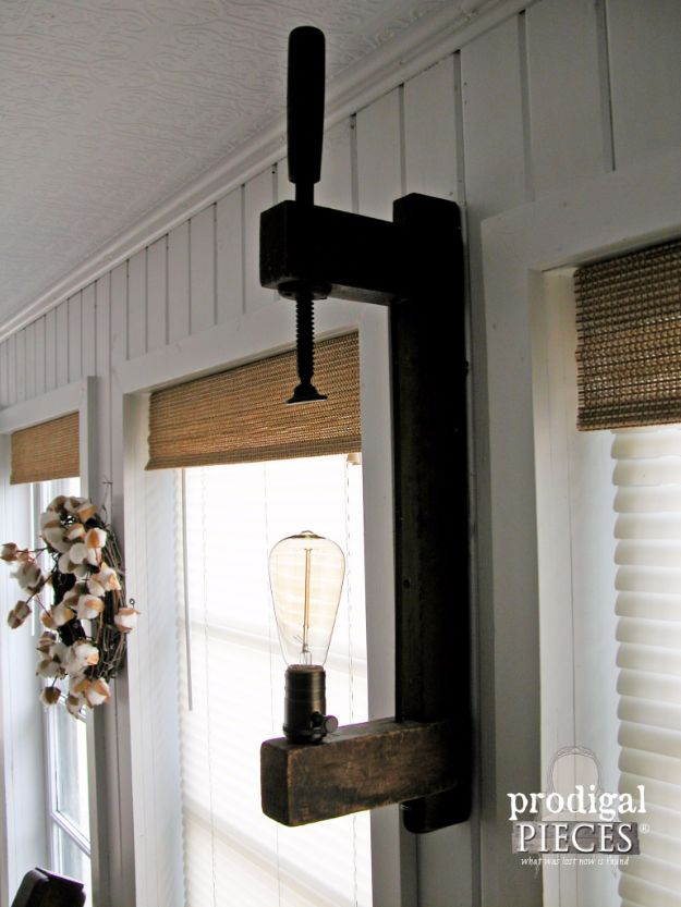 DIY Lighting Ideas and Cool DIY Light Projects for the Home - DIY Farmhouse Lighting - Easy DIY Ideas for Chandeliers, lights, lamps, awesome pendants and creative hanging fixtures, complete with tutorials with instructions. Cheap do it yourself lighting tutorials for indoor - bedroom, living room, bathroom, kitchen DIY Projects and Crafts for Women and Men http://diyjoy.com/diy-indoor-lighting-ideas
