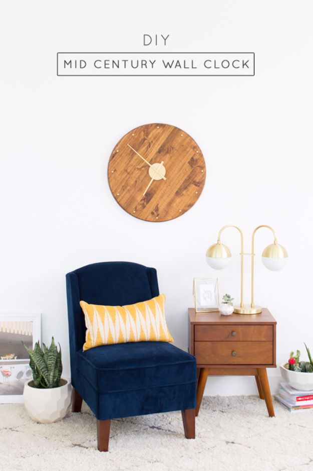Cheap Wedding Gift Ideas - DIY Mid Century Wall Clock - DIY Wedding Gifts You Can Make On A Budget - Quick and Easy Ideas for Handmade Presents for the Couple Getting Married - Inexpensive Things To Make for Bride and Groom - DIY Home Decor, Wall Art, Glassware, Furniture, Tableware, Place Settings, Cake and Cookie Plates and Glasses http://diyjoy.com/cheap-diy-wedding-gift-ideas