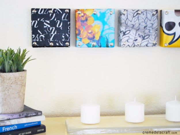 DIY Ideas With Shoe Boxes - DIY Mini Wall Art From Shoe Box - Shoe Box Crafts and Organizers for Storage - How To Make A Shelf, Makeup Organizer, Kids Room Decoration, Storage Ideas Projects - Cheap Home Decor DIY Ideas for Kids, Adults and Teens Rooms #diyideas #upcycle