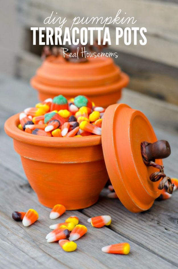 Best Crafts for Fall Decorating - DIY Pumpkin Terracotta Pots - DIY Home Decor, Mason Jar Ideas, Dollar Store Crafts, Rustic Pumpkin Ideas, Wreaths, Candles and Wall Art, Centerpieces, Wedding Decorations, Homemade Gifts, Craft Projects with Leaves, Flowers and Burlap, Painted Art, Candles and Luminaries for Cool Home Decor - Quick and Easy Projects With Step by Step Tutorials and Instructions http://diyjoy.com/best-fall-decorating-ideas