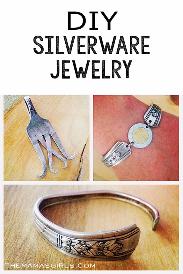 DIY Silverware Upgrades - DIY Silverware Jewelry - Creative Ways To Improve Boring Silver Ware and Palce Settings - Paint, Decorate and Update Your Flatware With These Creative Do IT Yourself Tutorials- Forks, Knives and Spoons all Get Dressed Up With These New Looks For Kitchen and Dining Room