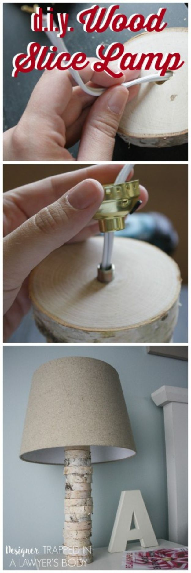 DIY Lighting Ideas and Cool DIY Light Projects for the Home - DIY Stacked Wood Lamp - Easy DIY Ideas for Chandeliers, lights, lamps, awesome pendants and creative hanging fixtures, complete with tutorials with instructions. Cheap do it yourself lighting tutorials for indoor - bedroom, living room, bathroom, kitchen DIY Projects and Crafts for Women and Men