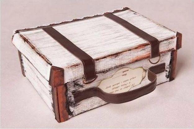 DIY Ideas With Shoe Boxes   DIY Suitcase Out Of Shoe Box   Shoe Box Crafts