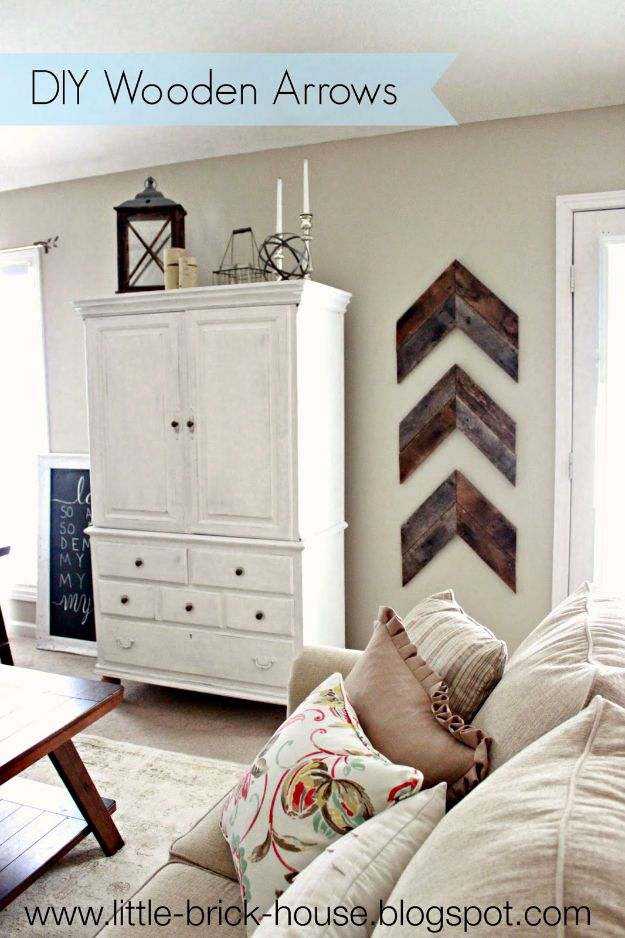 Rustic Wall Art Ideas - DIY Wooden Arrows - DIY Farmhouse Wall Art and Vintage Decor for Walls - Country Crafts and Rustic Home Decor Made Easy With Instructions and Tutorials - String Art, Repurposed Pallet Projects, Mason Jar Crafts, Vintage Signs, Word Art and Letters, Monograms and Sewing Projects http://diyjoy.com/rustic-wall-art-ideas